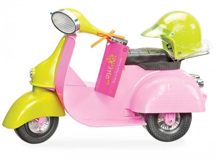 Comprend : un scooter et un casque. Convient aux poupées de 46 cm - Dimensions: 50,8 cm x 19 cm x 35,6 cm. - Picwic - Jeux, jouets et activités créatives pour toute la famille