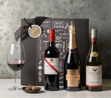 Wine Trio | Wine & Champagne Gift Hampers | Gourmet Basket