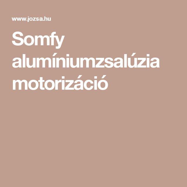 Somfy alumíniumzsalúzia motorizáció