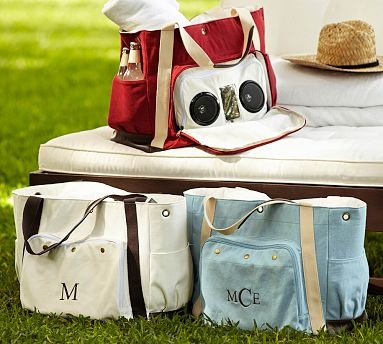 Cooler Speaker Tote by Pottery Barn - cute for tailgates!