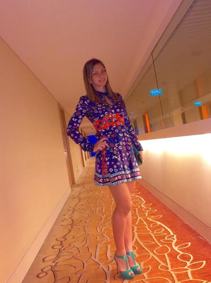 Simona Halep looking very pretty in Singapore October 2014