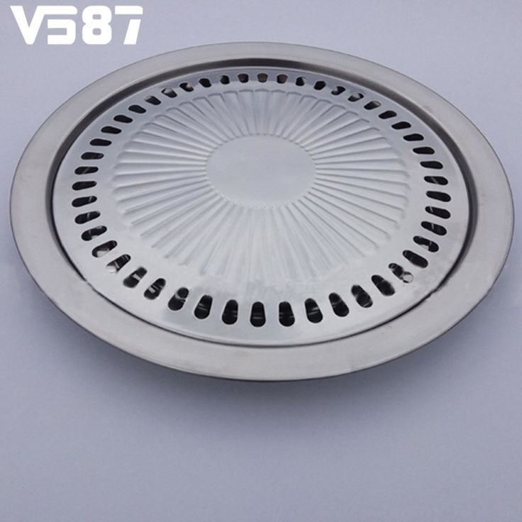 Non-stick Gas Grill Pan Refined Stainless Steel for Barbecue BBQ Plate Healthy Smokeless Roasting Outdoor Cooking Tool