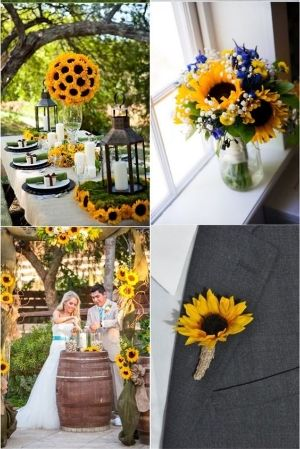70 Sunflower Wedding Ideas. What could be happier than sunflowers? Wonderful and creative ideas that you can use at your own wedding.