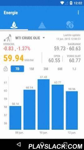Oil Price Watcher  Android App - playslack.com ,  Prijzen op edele metalen: goud, zilver, platina, palladium Base Metals: kuiper, nikkel, aluminium, zink, lood. Energie: Ruwe Olie Prijs (Brent, WTI). Aardgas PrijsBelangrijkste wisselkoersen - dollar-euro, dollar-yen enz.