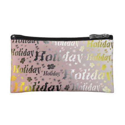 holiday Cosmetic Bag leisure shiny metal font Makeup Bag - pattern sample design template diy cyo customize
