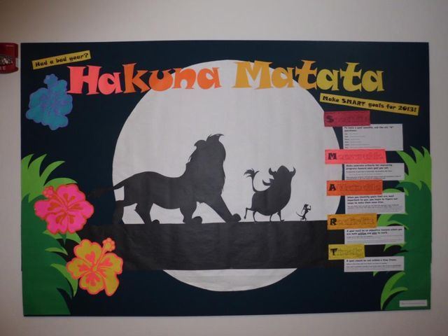 SMART Goals Bulletin Board (Lion King theme)