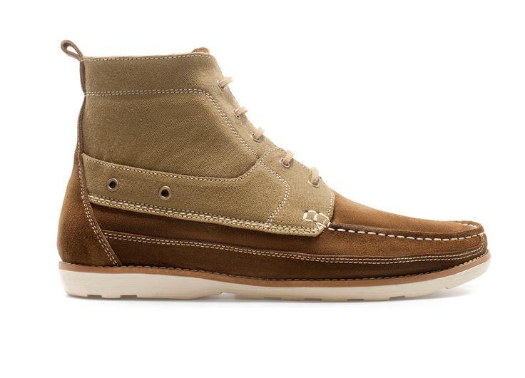 zapato nautico bota hombre zara marron