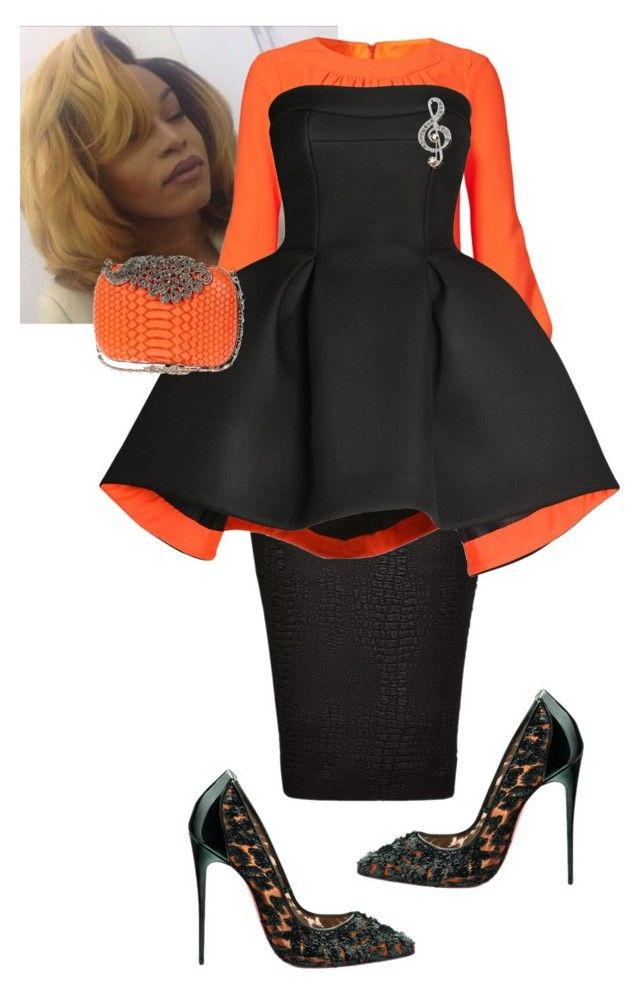 """Church Ready"" by cogic-fashion ❤ liked on Polyvore featuring Trina Turk LA, French Connection, Parlor, Christian Louboutin, INDIE HAIR and River Island"