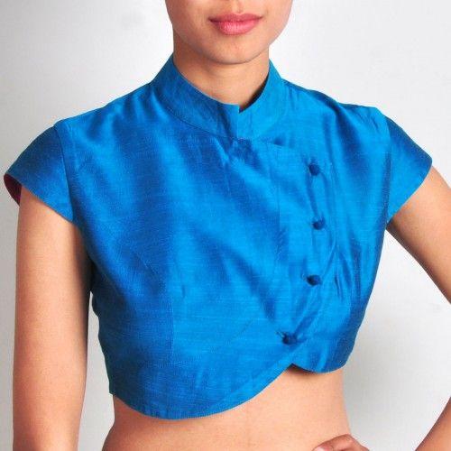 Light Blue Silk Coatie