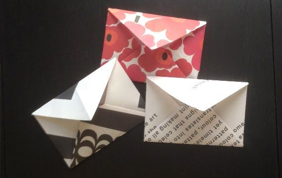 Faça um envelope de papel!
