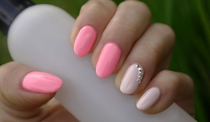paznokcie hybrydowe różowe zdobienie - Szukaj w Google