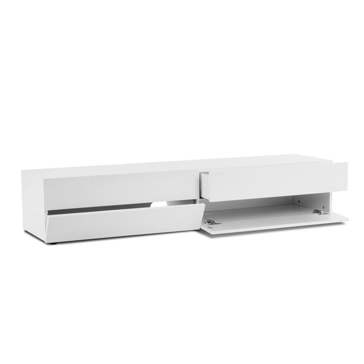 25 best ideas about meuble tv blanc on pinterest unit s for Meuble kallax blanc