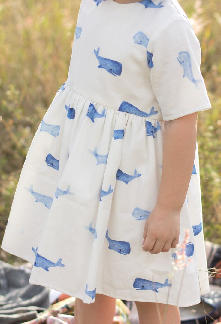 Beautiful Handmade Whale Print Dress | EYGoods on Etsy