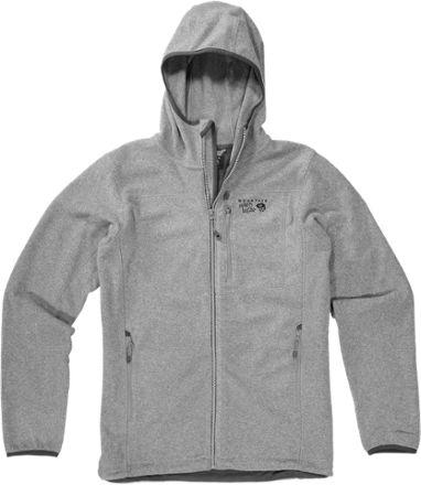 Mountain Hardwear Men's Strecker Hooded Jacket Heather Titanium XXL