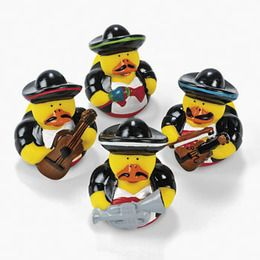 Mariachi Rubber Duckies - Favors  Prizes - Amols' Fiesta Party Supplies