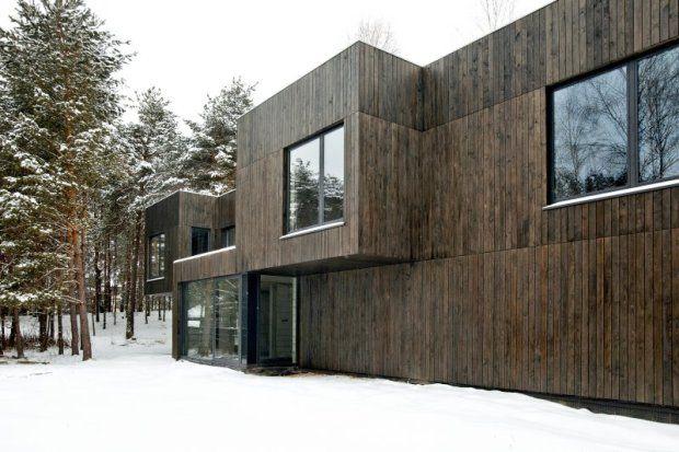 Zdjęcie numer 13 w galerii - Leśny dom o drewnianej elewacji od polskiej pracowni uznanej za jedną z 20 najlepszych na świecie Dom Tetris w małopolskim Bukownie