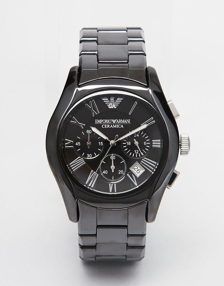 Image 1 ofEmporio Armani AR1400 Chronograph Black Ceramic Watch