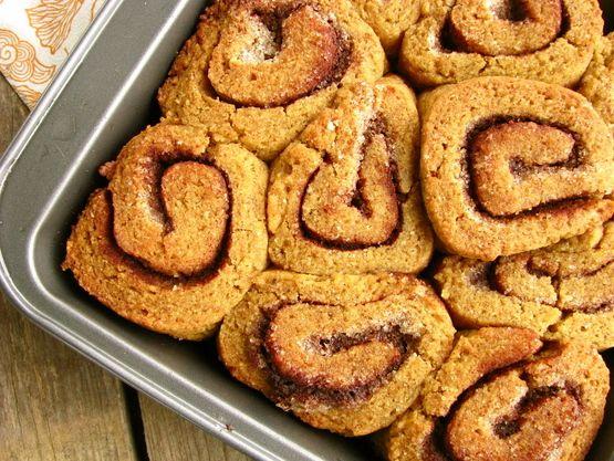 Grain Free Pumpkin Cinnamon Rolls (Gluten/Soy/Corn Free with Directions to make Refined Sugar Free).