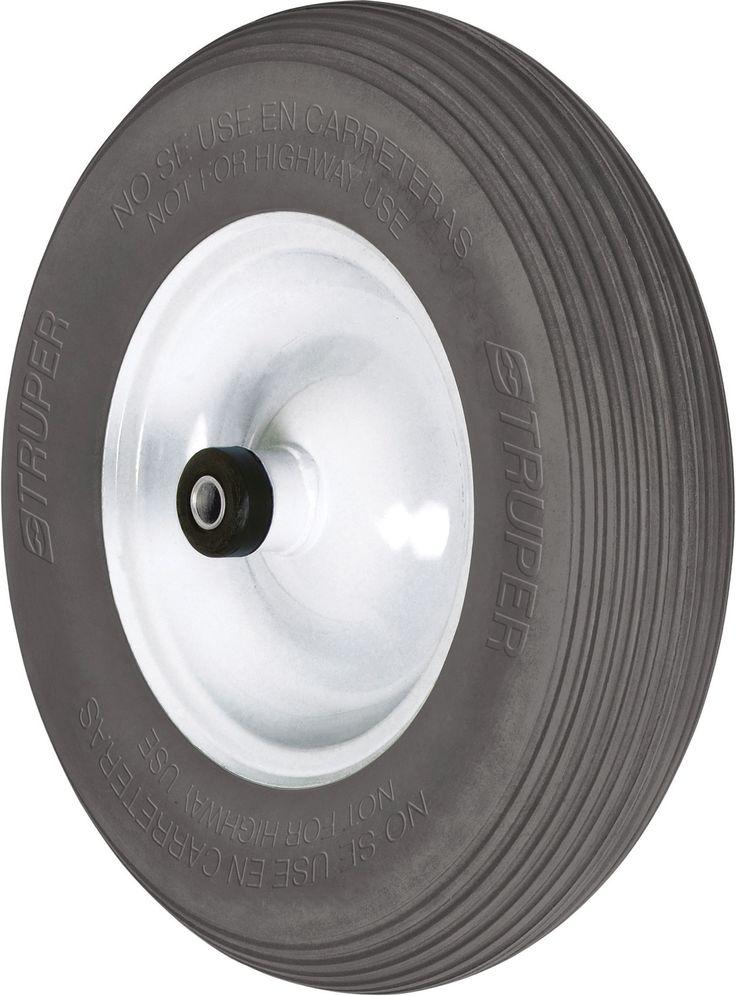 Flat Free Wheelbarrow Tire With Rim