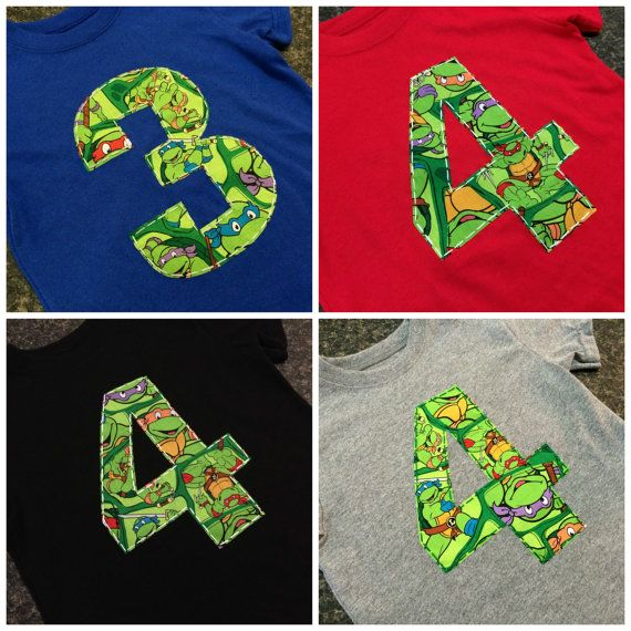 Teenage Mutant Ninja Turtles Birthday Shirt by LilLadybugCreations, $12.00