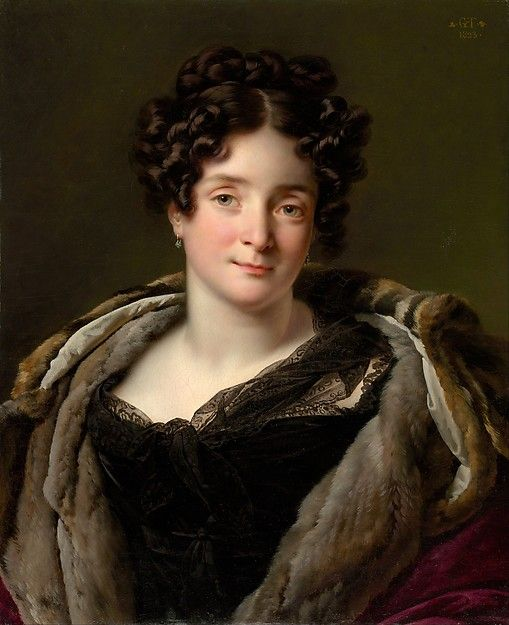 """""""Madame Jacques-Louis-Étienne Reizet (Colette-Désirée-Thérèse Godefroy, 1782–1850)"""", Anne Louis Girodet-Trioson, 1823; MMA 1999.101"""
