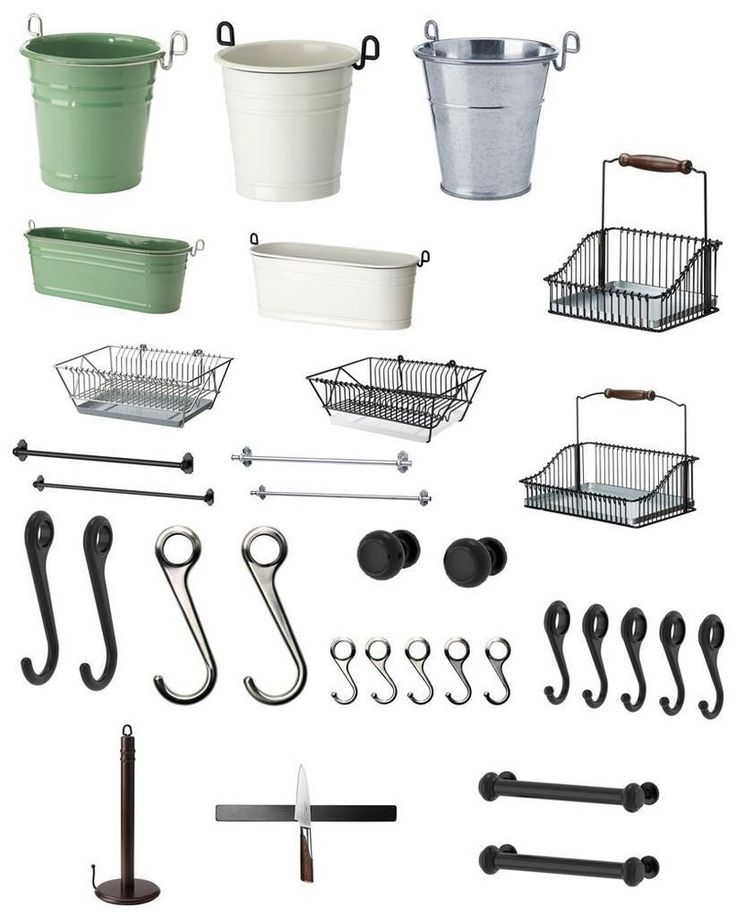 "Ikea ""FINTORP"" Series Complete Kitchen Storage, Rack, Holders, Hooks ~ALL~NEW~"