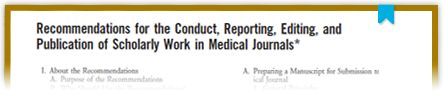 The ICMJE is a small working group of general medical journal editors whose participants meet annually and fund their own work on the Recommendations for the Conduct, Reporting, Editing and Publication of Scholarly Work in Medical Journals. The ICMJE invites comments on this document and suggestions for agenda items.