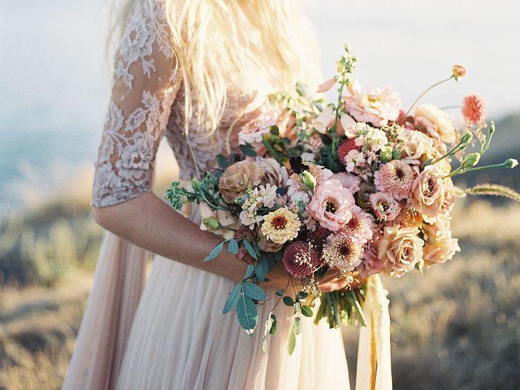 Blush Lace Wedding Dress Inspiration by Heather Payne Photography   Wedding Sparrow   wedding blog