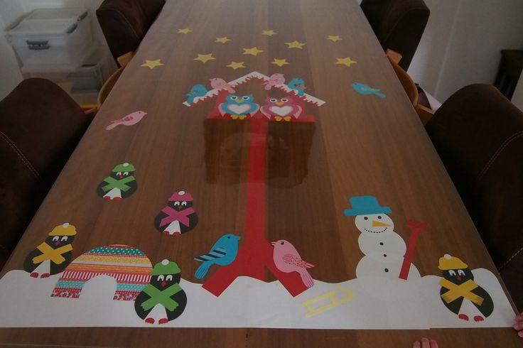 Wat een vrolijke wintertafel! Gezield door Arianne uit Sprang-Capelle