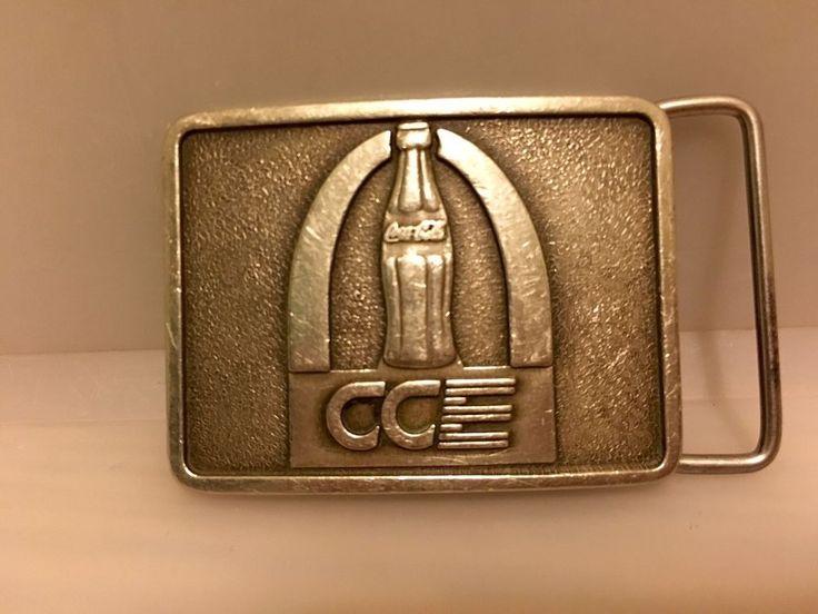 Rare Vintage Coca Cola Enterprises Belt Buckle  | eBay