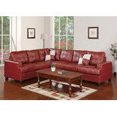 found it at allmodern bobkona karen bonded leather reversible sectional sofa - Sectional Couches For Sale