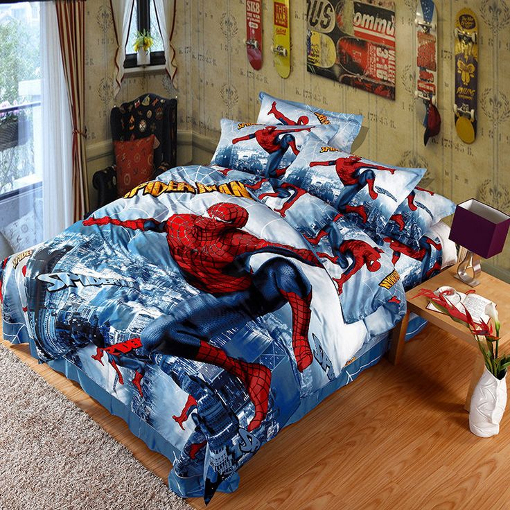 Now Available at our Store: Spiderman Action ... You can check it out here! http://www.magicalbeddings.com/products/spiderman-action-time-bedding-set-100-cotton?utm_campaign=social_autopilot&utm_source=pin&utm_medium=pin
