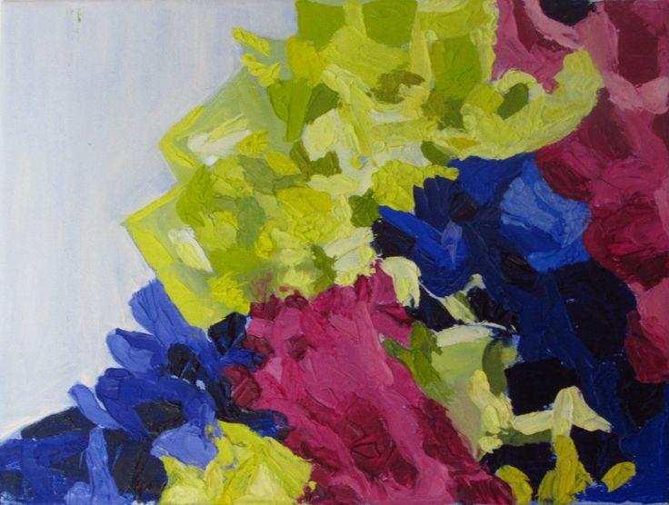 "Anita Varas. ""Nudos"". Óleo sobre tela, 30 x 40 cm. 2015."