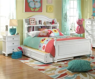 Legacy Classic Kids Furniture Madison Bookcase Bed with Trundle Full Size 2830-4804K