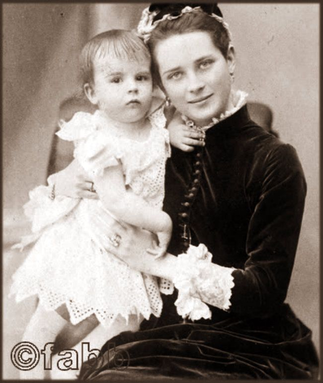 Princess Zenaida Yussuppov with her son Nicholas. Grand Duchess Olga would…