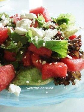 ギリシャ風スイカのサラダ by *kay [クックパッド] 簡単おいしい ...