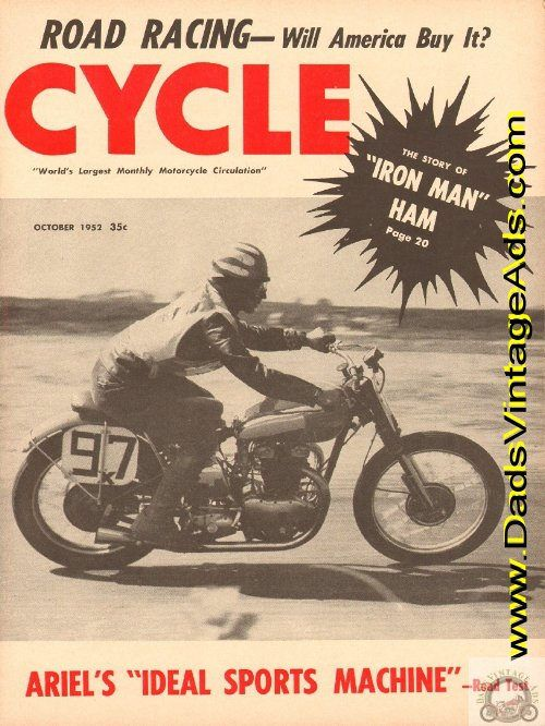 Cover: Bobby Turner exemplifies the typical American road race rider as he skirts the Torrey Pines circuit near San Diego, California. Whether or not this type of competition becomes widespread will depend on promoter's ability to obtain suitable grounds and the complete acceptance of the race