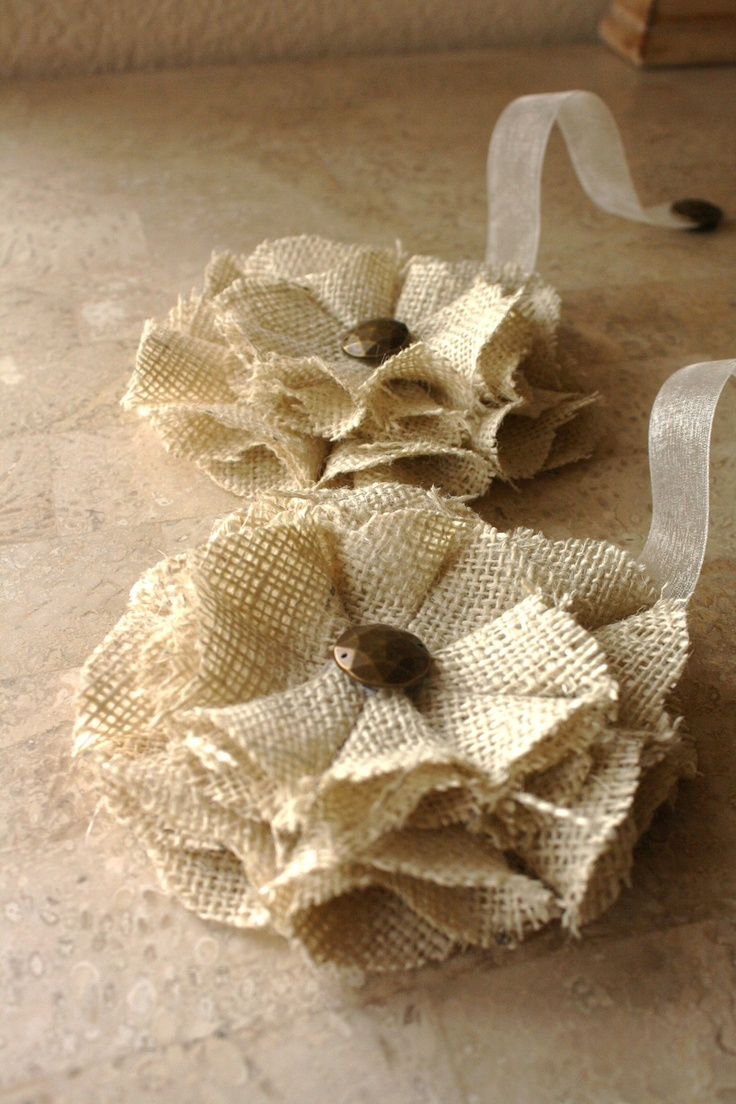 Curtain tie backs ideas - Burlap Magnetic Tie Backs Flowers Ready To Ship