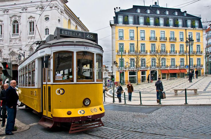 "The famouse ""28"" tramway in Chiado quarter, Lisbon."