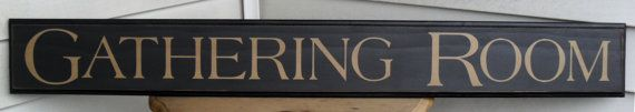 Dining room sign