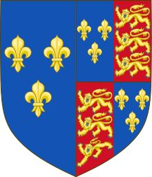 Dual monarchy of England and France - Wikipedia / The Royal Arms of England during Henry VI's reign. As Duke of Cornwall, Henry's arms were those of the kingdom, differenced by a label argent of three points. Upon his accession, he inherited the use of the arms of the kingdom, and impaled them with those of France to reflect the de jure dual monarchy of France and England