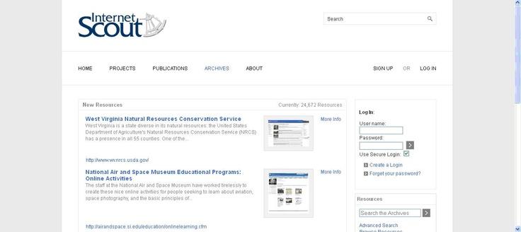 Internet Scout es un proyecto para la búsqueda de recursos de información en línea.
