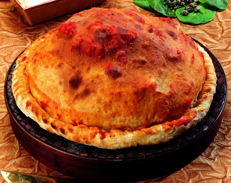 Pizza soffiata con stracchino e spinaci