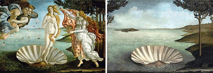 Sandro Botticelli – The Birth of Venus, 1486 ... Artist Recreates Famous Paintings Without Their Characters