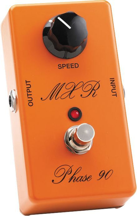 MXR Script Logo Phase 90.  Hear it in action on Guitarist Jeff Fiorentino's JFRocks Van Halen-style Guitar Lesson music tracks.  Download Jeff Fiorentino music at http://jfrocksguitarlessons.com/jeff-fiorentino-guitar-music/
