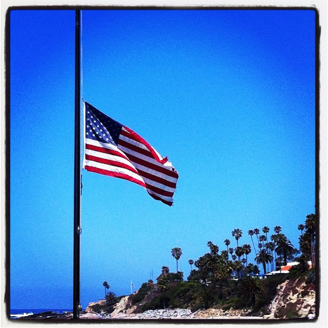 flags half mast today california
