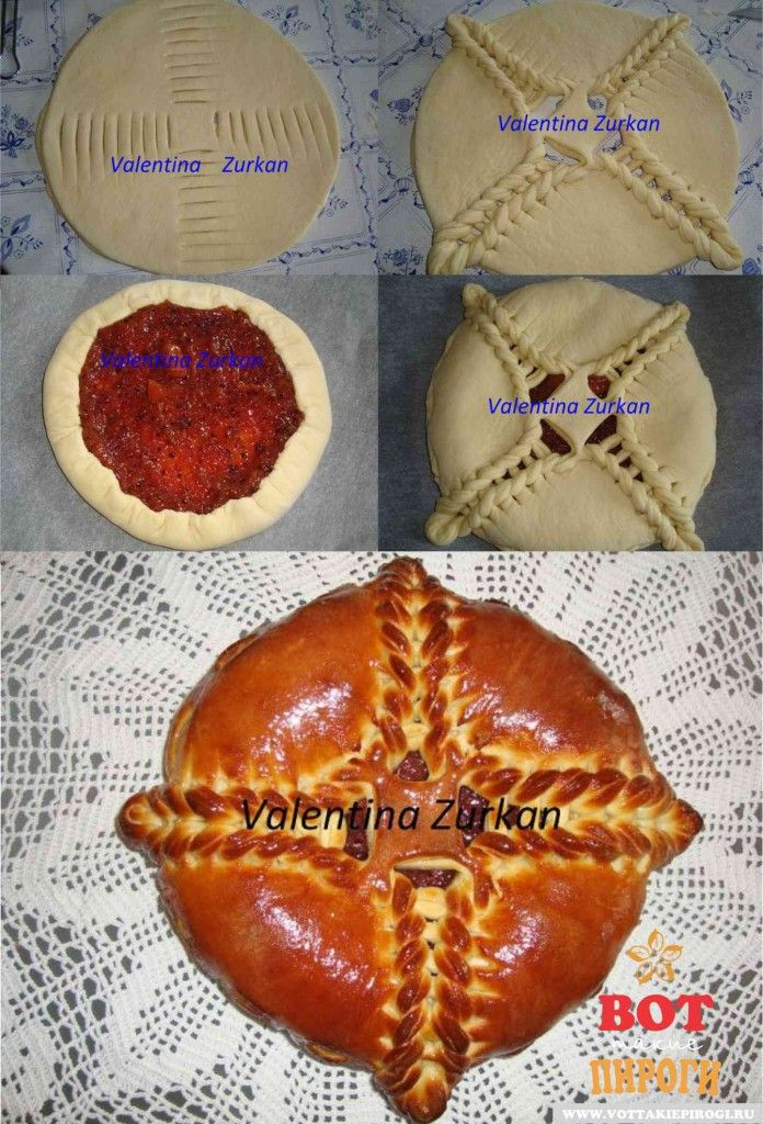 Valentina Tarts Turcan Pasta lievitata dolce con ripieno di ricotta e uva passa   (Ricetta scritta in russo)