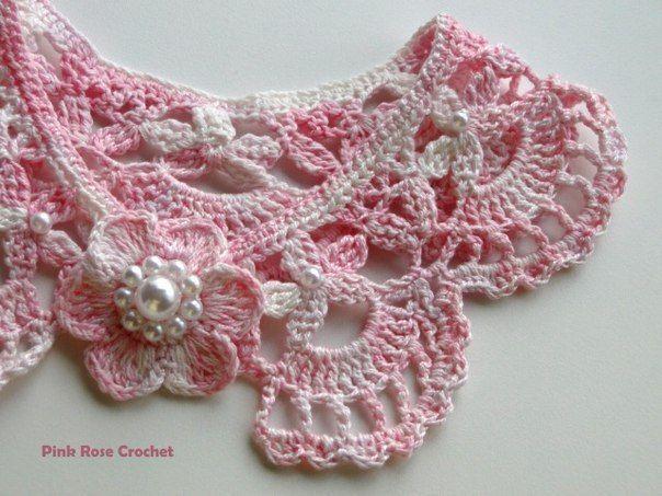 Beautiful crochet collar! Graph pattern only