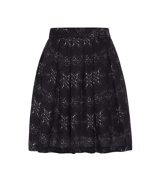 FashionSupreme - Fustă neagră cu imprimeu floral - Haine de damă - Fuste - Fuste pentru cele mai sofisticate gusturi. Haine şi accesorii de marcă. Haine de designer.