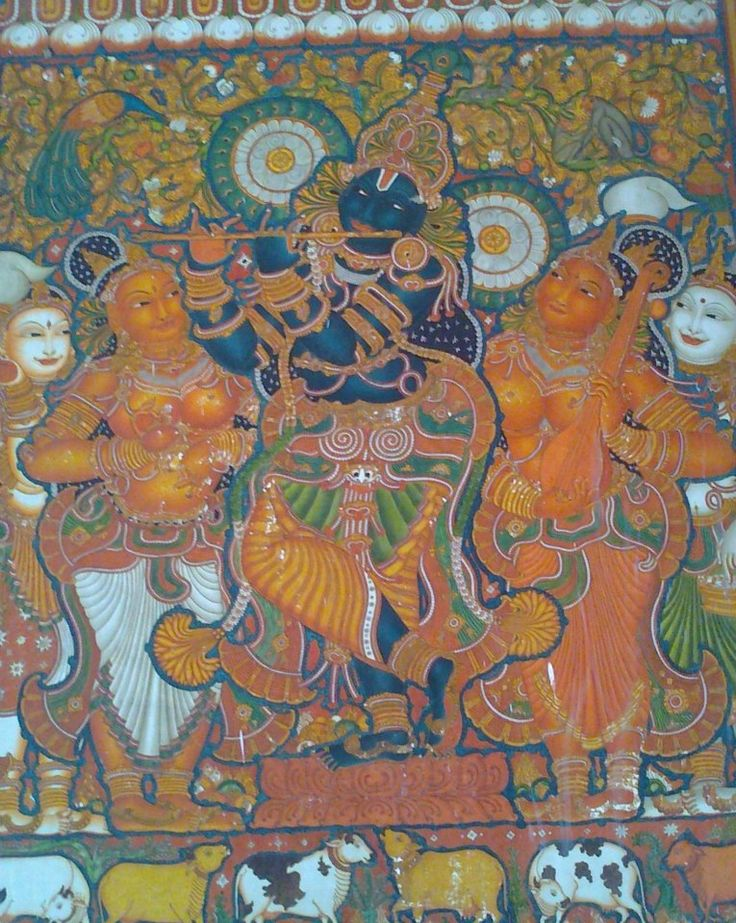 1000 images about kerala mural art on pinterest india for Asha mural painting guruvayur